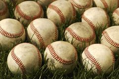 Old Baseballs Stock Images