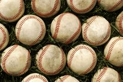 Old Baseballs Stock Image