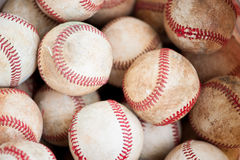 Old baseballs Stock Photos