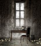 Old basement with chains Royalty Free Stock Images