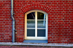 Old basement window with bricks Royalty Free Stock Photography