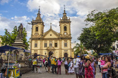 The Old Basilica of Aparecida Royalty Free Stock Photography