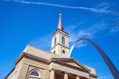 The old Basilica Cathedral St. Louis Royalty Free Stock Images