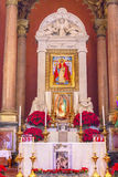 Old Basilica Guadalupe Altar Mexico City Mexico Stock Photography