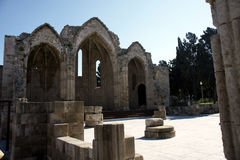 Old Basilica ruins in Rhodes Island Stock Image