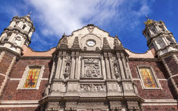 Old Basilica Shrine of Guadalupe Mexico City Mexico Stock Image