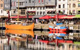 Le vieux bassin in Honfleur Normandy royalty free stock photo