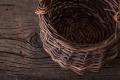 Old Basket Background Royalty Free Stock Images