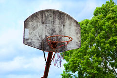 Old basket ball hoop Royalty Free Stock Photos