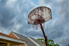 Old basket ball hoop Royalty Free Stock Photo