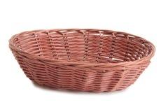 Old basket on white background Stock Photography