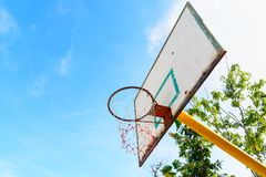 Free Old Basketball Backboard At Outdoor Street Court. Royalty Free Stock Images - 100888299