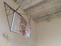 Old basketball backboard. In an abandoned room Stock Image