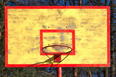 Old basketball backboard and ring Royalty Free Stock Photography
