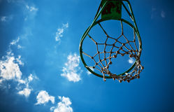 Old basketball basket Royalty Free Stock Photo