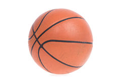 Old basketball basket ball isolate Royalty Free Stock Photography