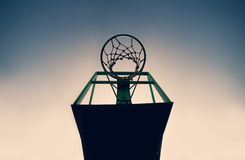 Old basketball basket outdoor Stock Photography