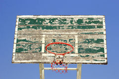 Old basketball board with  hoop Royalty Free Stock Image