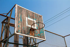 Old basketball board Stock Photo