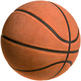 Old Basketball-Clipping Path Royalty Free Stock Image