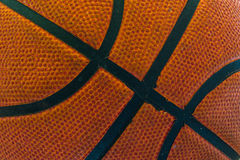 Old basketball close up Stock Photography