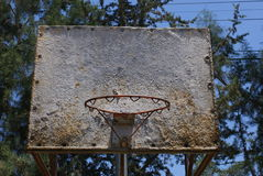 Old Basketball Court Stock Image