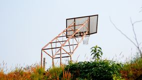 Old basketball court royalty free stock images