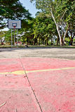 Old basketball field Stock Photo