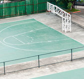 Old basketball field Royalty Free Stock Photography