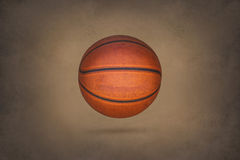 Old basketball on grunge texture background Royalty Free Stock Photography