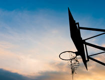 Old basketball hoop. No man play Stock Photography