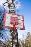 Old Basketball Hoop Royalty Free Stock Photography