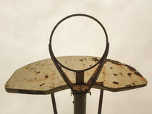 Old Basketball Hoop. Abandoned basketball hoop in park Stock Photography