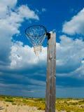 Old basketball hoop. Stock Photo