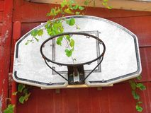 Old basketball hoop and backboard Stock Photos