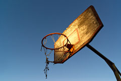 Old basketball hoop Royalty Free Stock Images