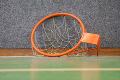 Old basketball hoop with net Royalty Free Stock Image