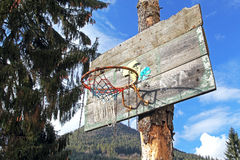 Old basketball hoop Royalty Free Stock Image