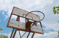 Old basketball hoop Stock Images