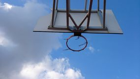 Old basketball net Stock Photo