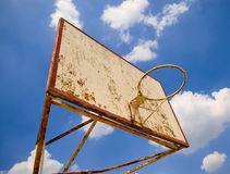 Old basketball ring. Against blue sky Stock Photos