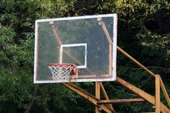 Old basketball ring Royalty Free Stock Photo