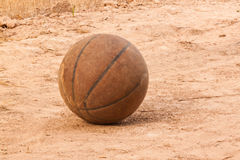 The old basketball Royalty Free Stock Image