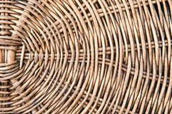 Old basketry of rattan Stock Image
