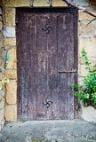 Old basque door Royalty Free Stock Photography