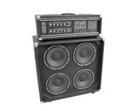 Old Bass Amplifier Isolated Stock Photography