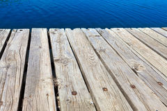 Old bathing jetty made of wood Stock Image