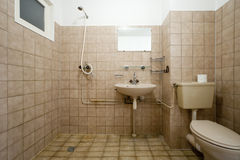 Old bathroom Stock Images