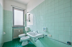 Old bathroom interior Stock Images