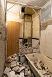 old bathroom interior before reconstruction royalty free stock photography